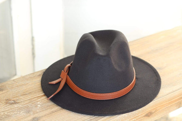 Black Belted Panama Hat