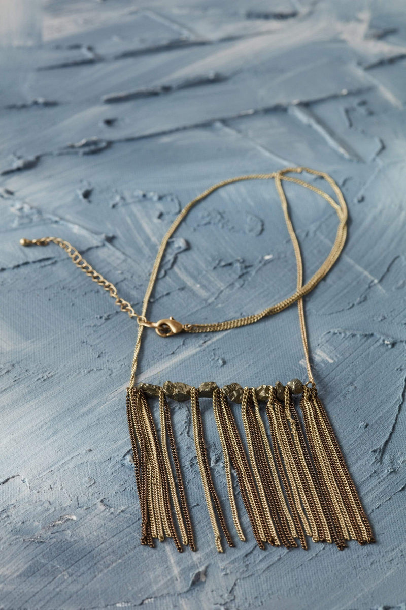 Chain Link Tassel Necklace