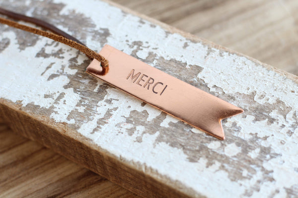Bottle Copper Hang Tags
