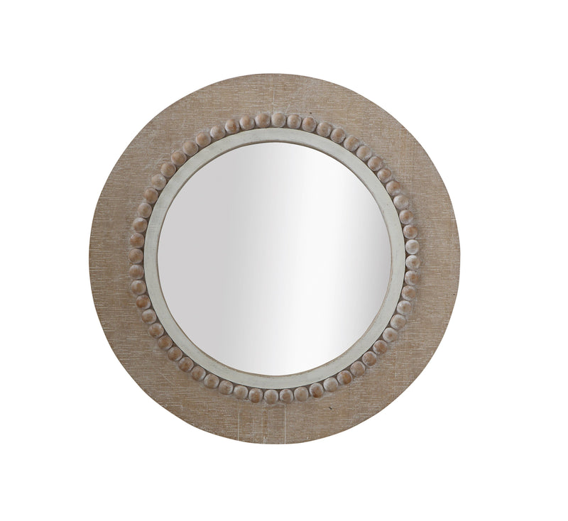 Wood Beaded Edge Mirror