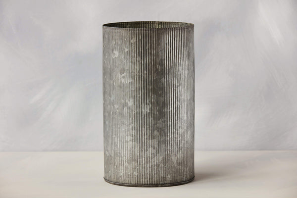 "10.5"" Ribbed Galvanized Pot"