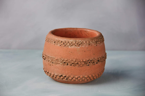 "5"" Dotted Pattern Terracotta Planter"