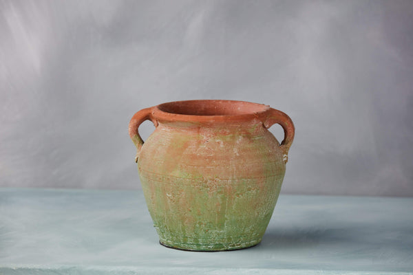 "7.5"" Brushed Green Terra Cotta Planter"