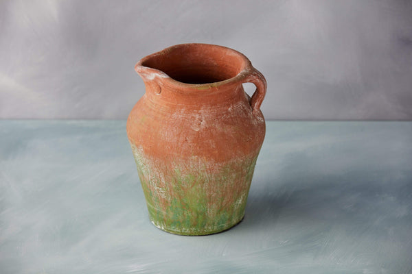 "8.5"" Brushed Green Terracotta Planter"