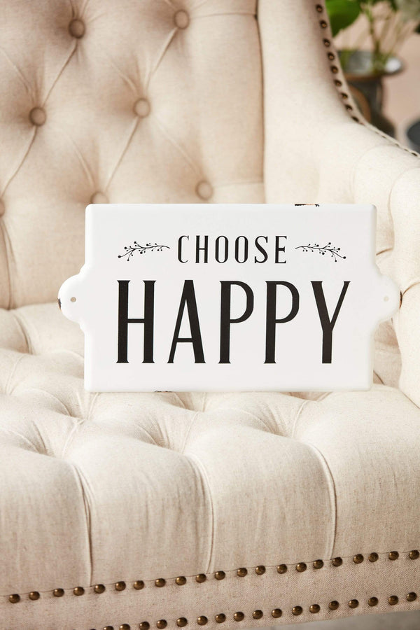 "14.5"" 'Choose Happy' Metal Sign"