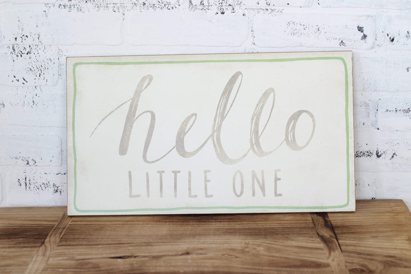 'Hello Little One' Wall Sign