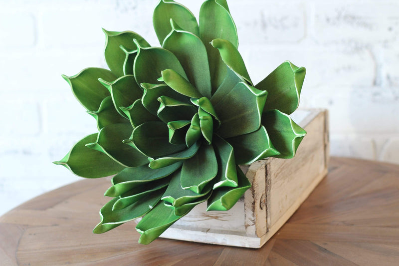 Boho Botanical Boho Chic Artifical Succulent Stems Bright Green Echivera Succulent Bohemian Style Decor