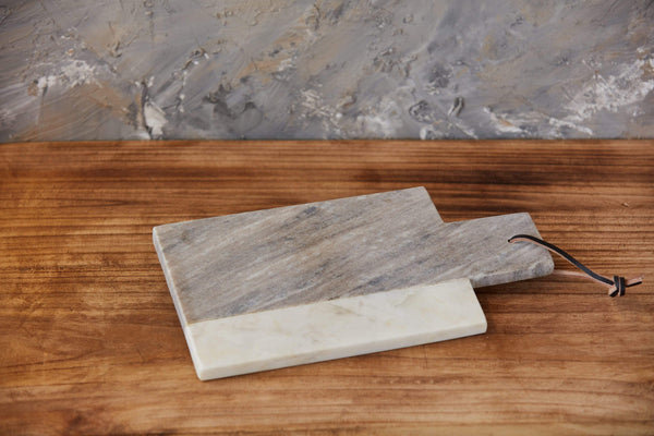 "12"" Two-Tone Marble Cheese Board"