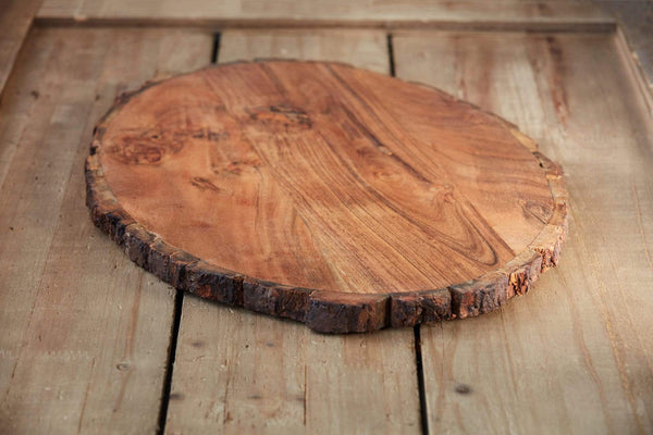 "18"" Wood Slice Serving/Cutting Board"