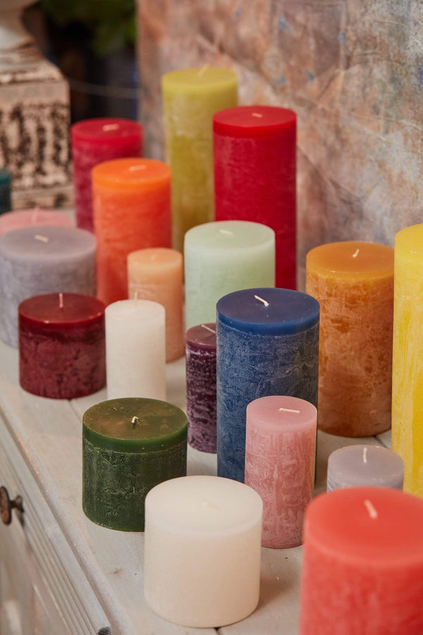 unscented dripless vance kitira pillar candle 4 x 4