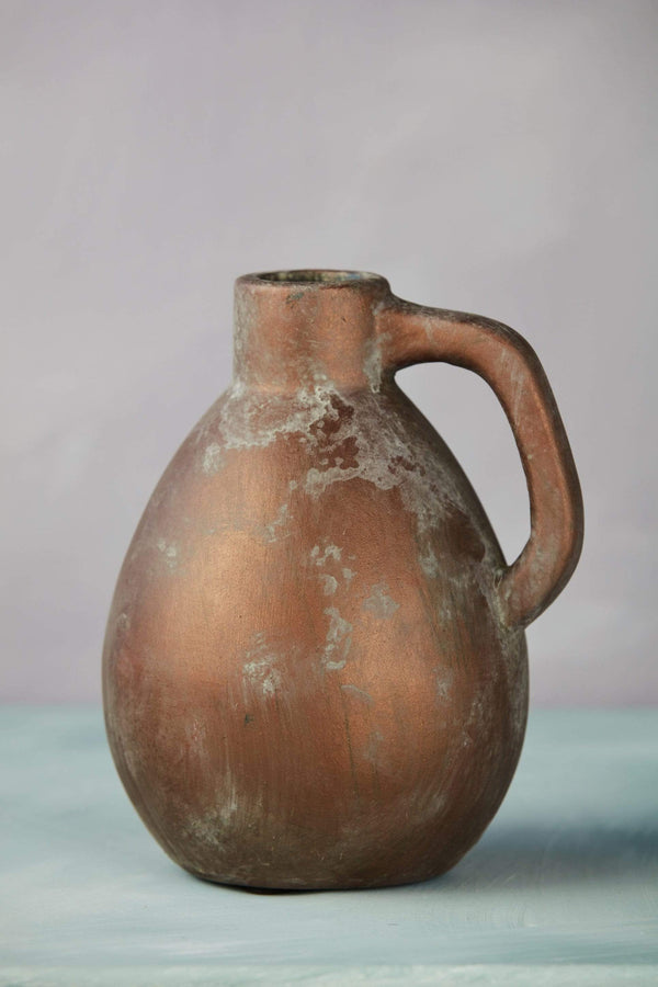 Bronze Painted Terracotta Bottle