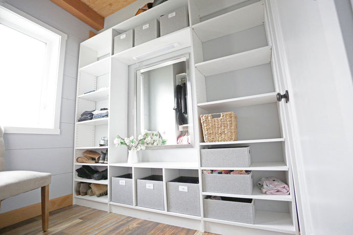 Custom Fit Shelving for Dressing Room