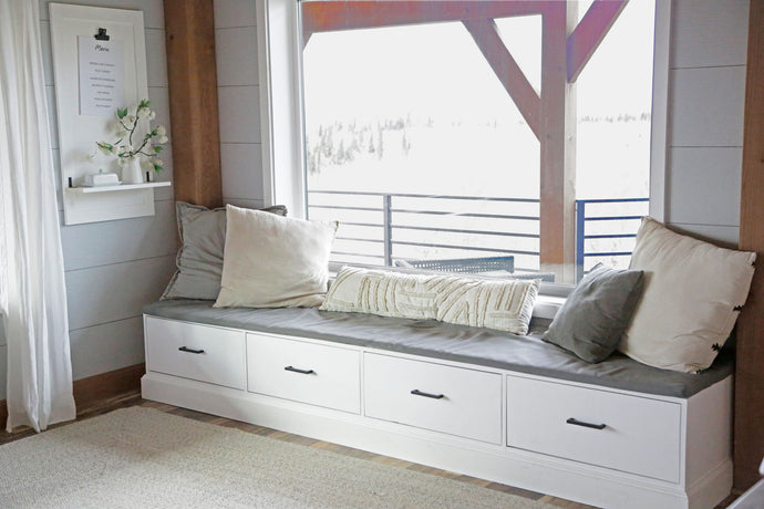 Window Seat Bench with Drawers