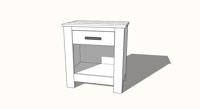 Chunky Face Framed Nightstand