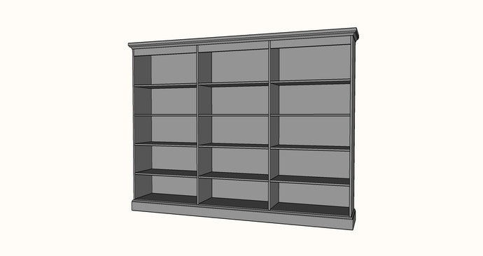 Frameless Bookshelf