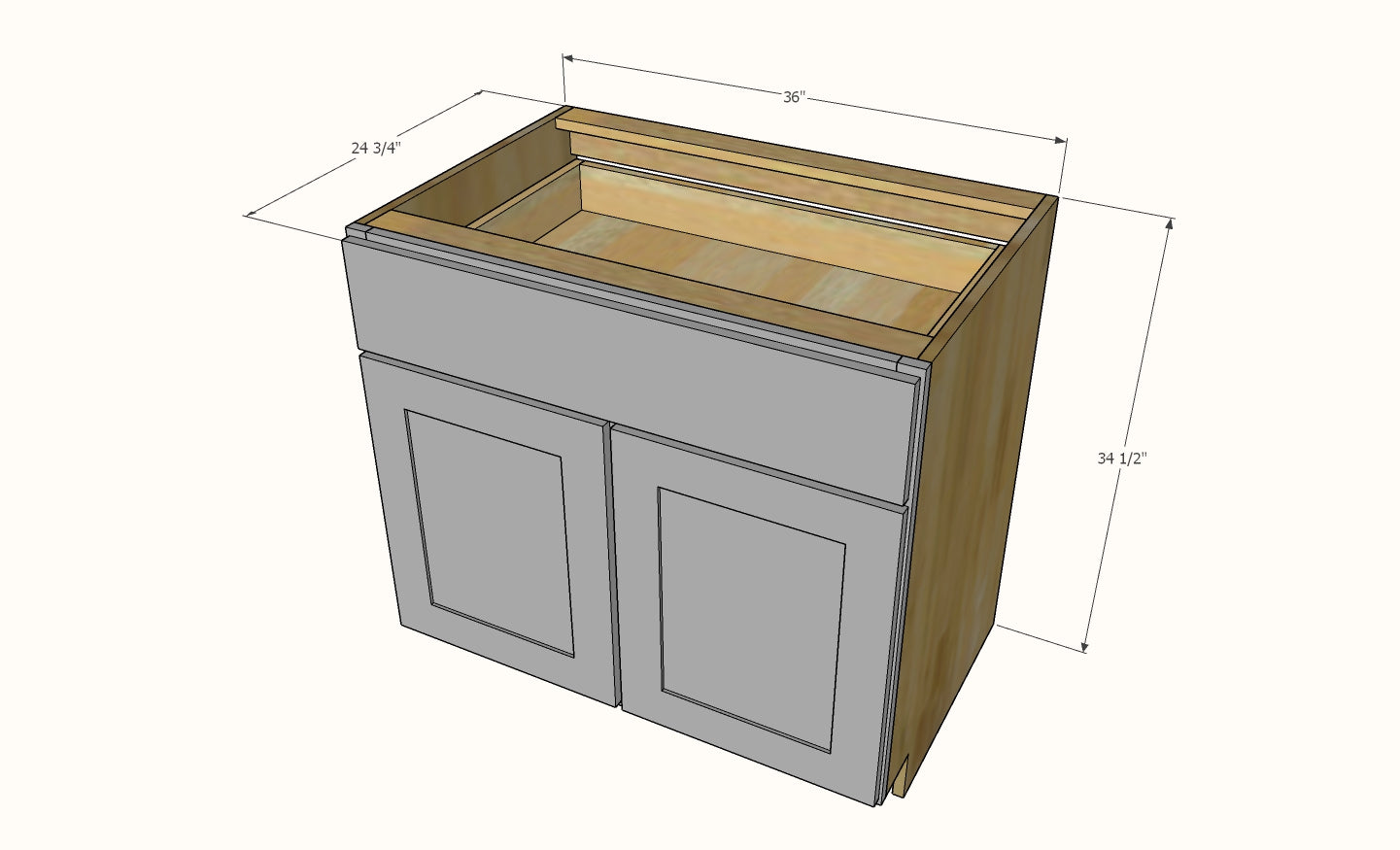Face Frame Kitchen Base Cabinets Shelf Help
