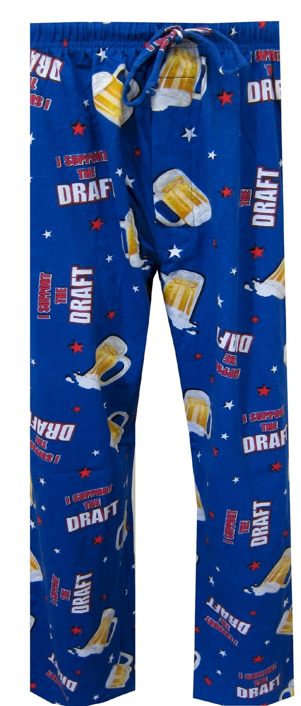 Beer Lovers I Support the Draft Patriotic Lounge Pants Size Small