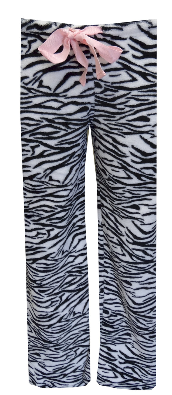 Black and White Zebra Plush Lounge Pant