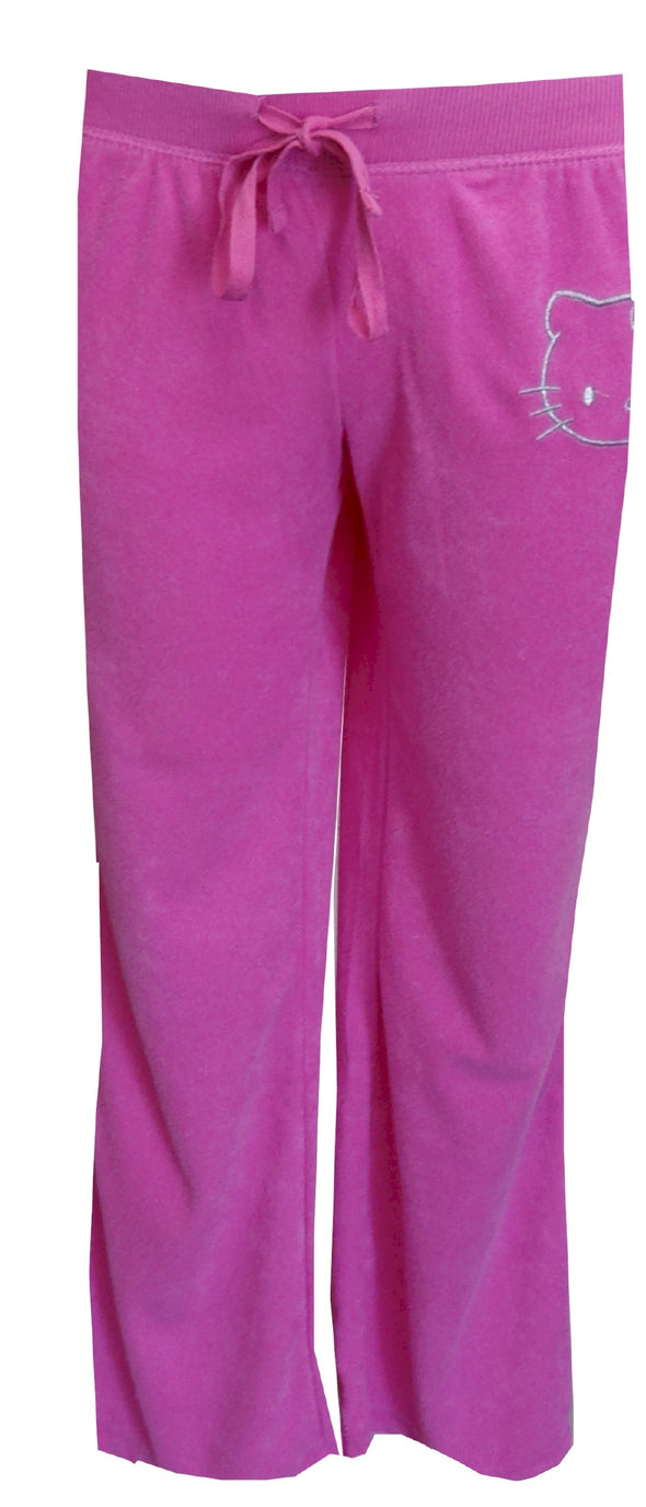 Hello Kitty Hot Pink Baby Terry Slim Cut Lounge Pant