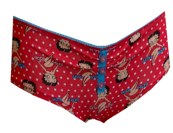 Betty Boop Red Polka-Dot Boy Short Panty