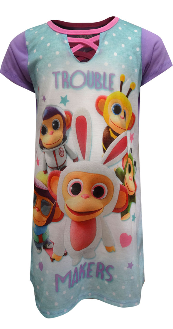 Wonder Park Movie Chimpan-zombie Trouble Makers Nightgown