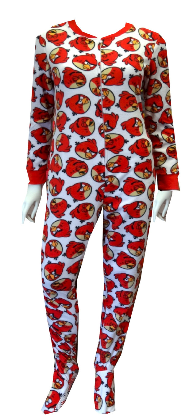 Angry Birds Big Red Gripper Bottom Onesie Pajama