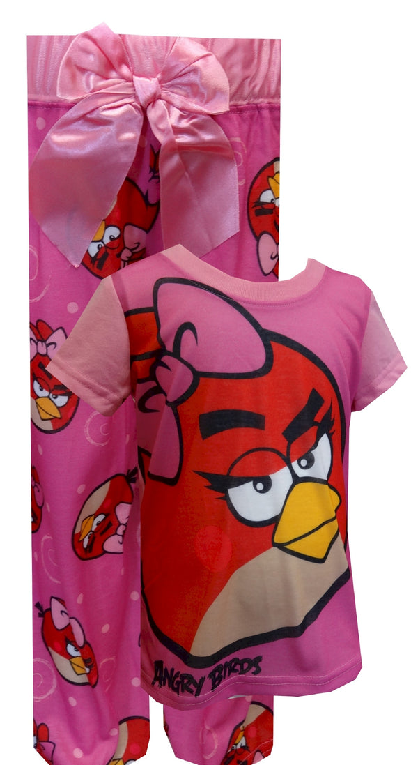 Angry Birds Pretty In Pink  Big Bow Pajamas
