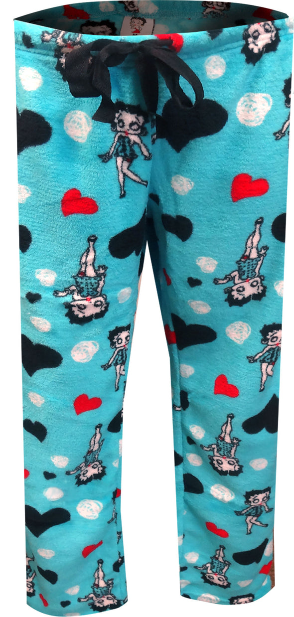 Betty Boop Signature Turquoise Plush Plus Size Lounge Pants