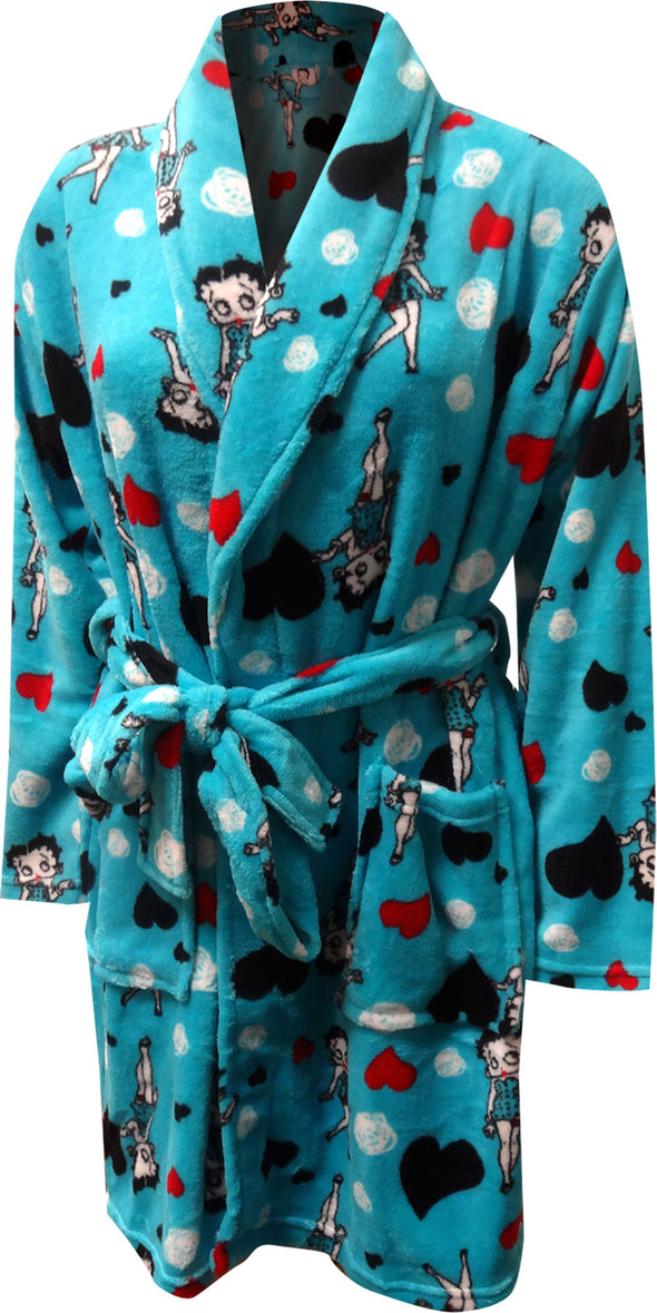 Betty Boop Turquoise Super Soft Plush Robe