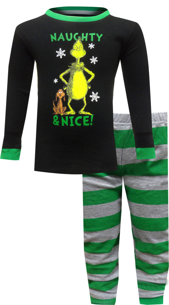 Dr. Seuss The Grinch Naughty & Nice Boys Pajamas