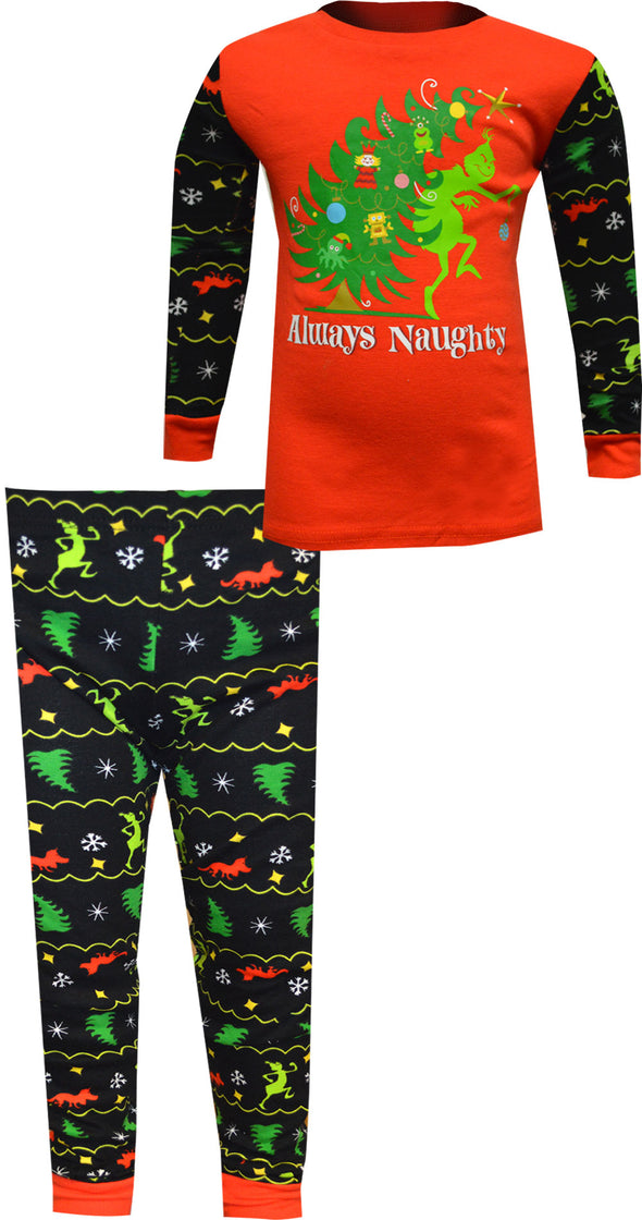 Dr. Seuss The Grinch Always Naughty Boys Pajamas