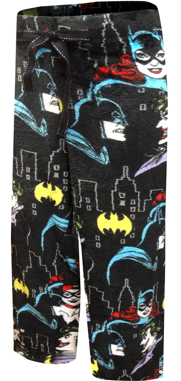Batgirl Joker Batman Plus Size 3X Plush Lounge Pants