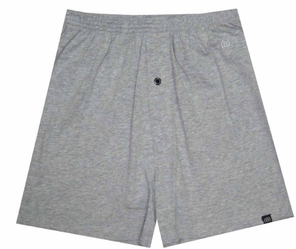 Brief Underneath Gray Lounge Shorts with Built in Brief (Small)