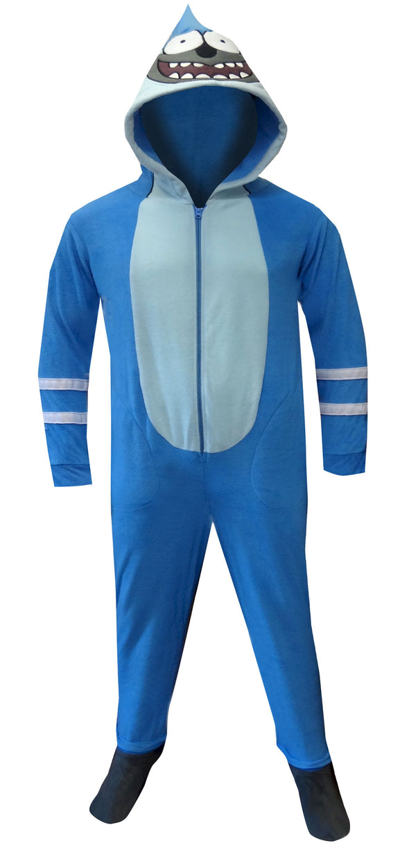 Regular Show Mordecai Hooded Onesie Footie Pajama