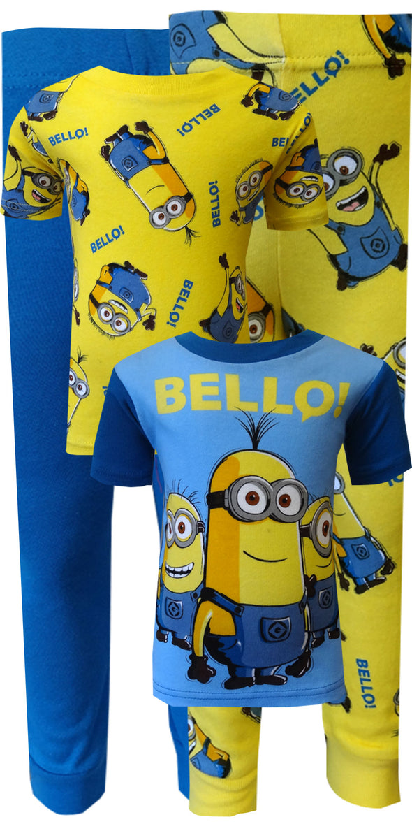 Despicable Me 2 Minion Bello! 4 Piece Cotton Pajamas