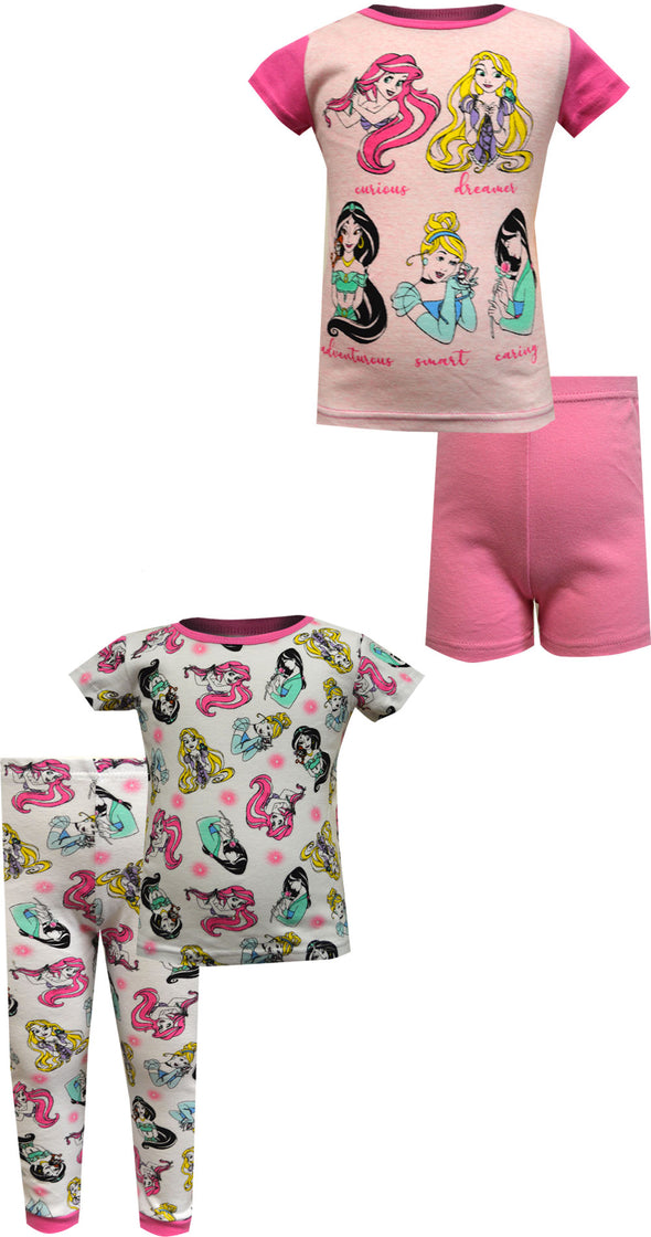 Disney Princesses Inspirational 4 Piece Cotton Toddler Pajama