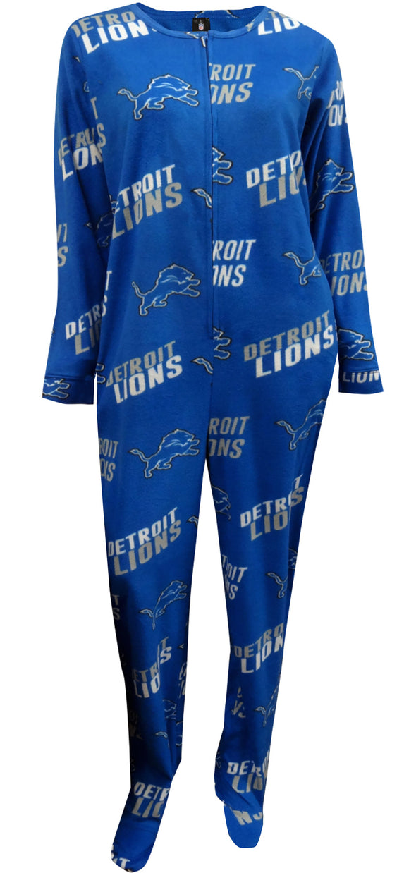 NFL Lions Ladies One Piece Footie Pajama
