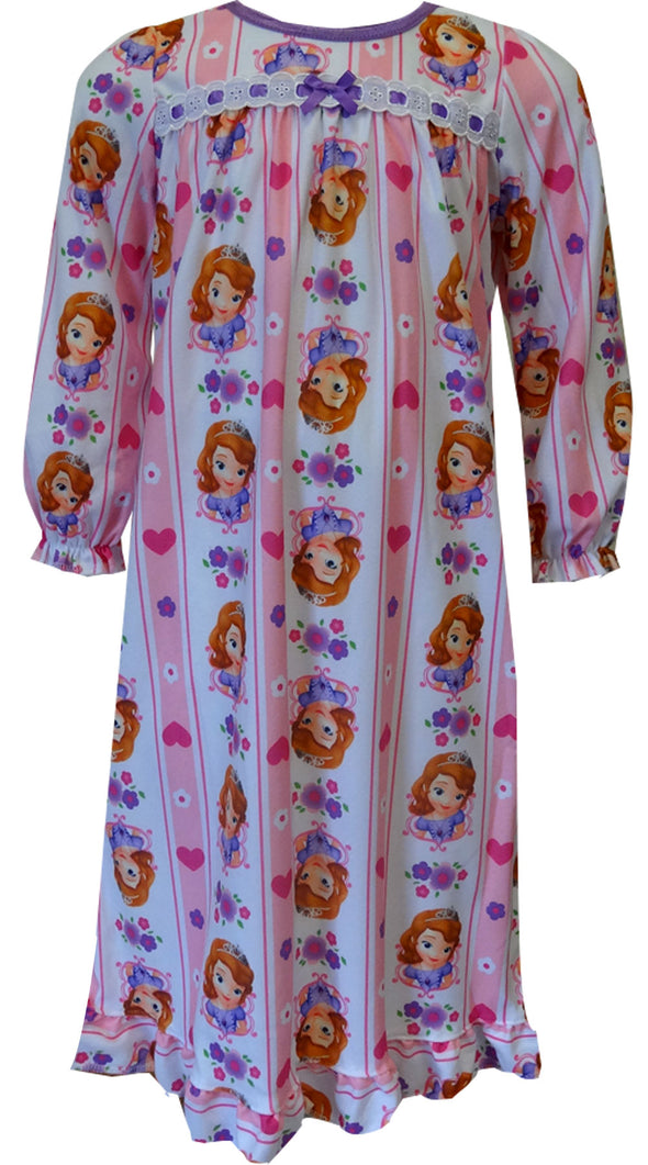 Sofia The First Toddler Flannel Nightgown Size 2T