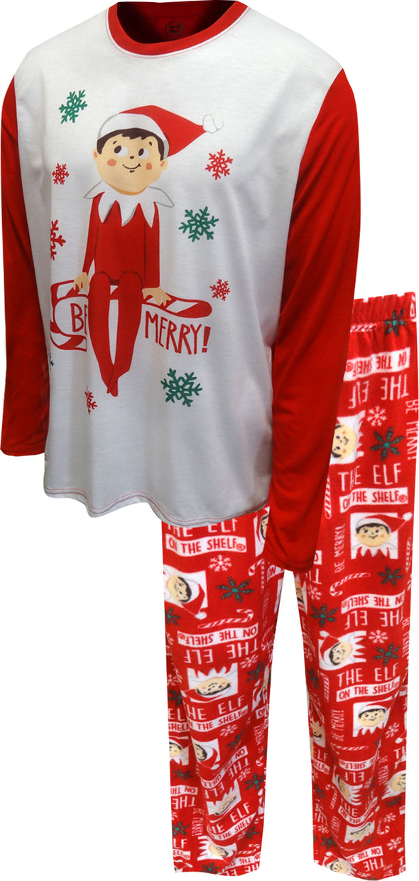 Elf on the Shelf Merry Christmas Mens Pajamas