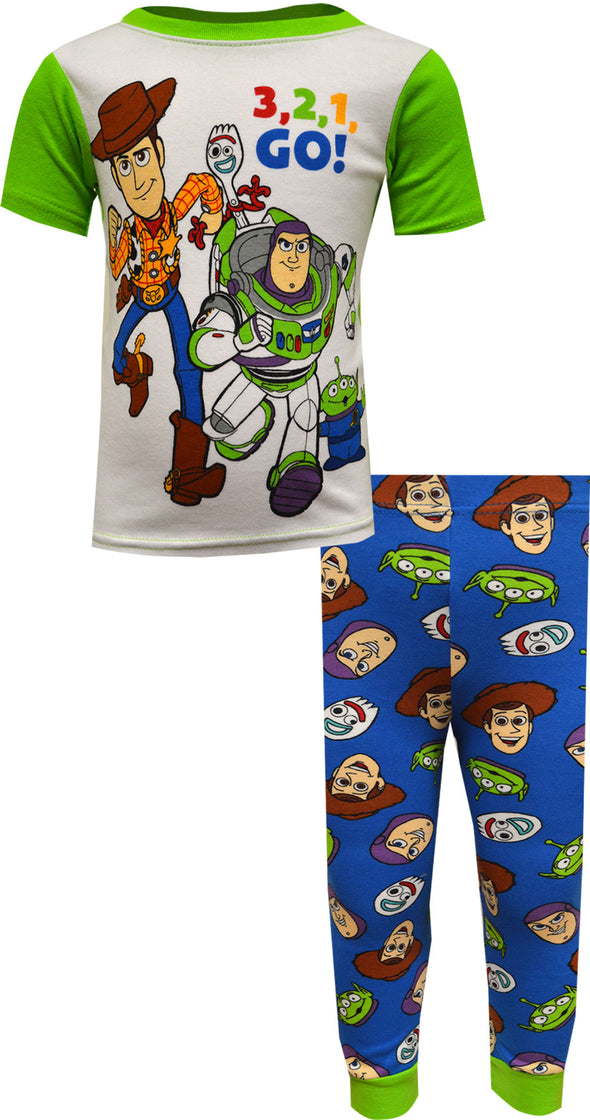 Toy Story 3,2,1 Go! Cotton Toddler Pajama