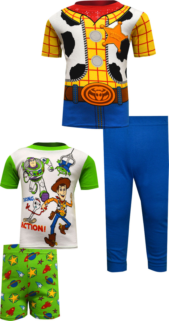 Toy Story Taking Action 4 Piece Cotton Toddler Pajama