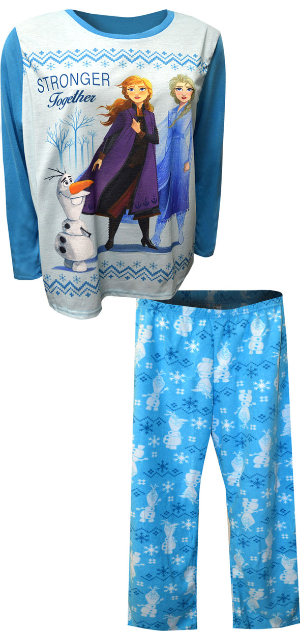 Disney Frozen Stronger Together Elsa and Anna Pajama Set