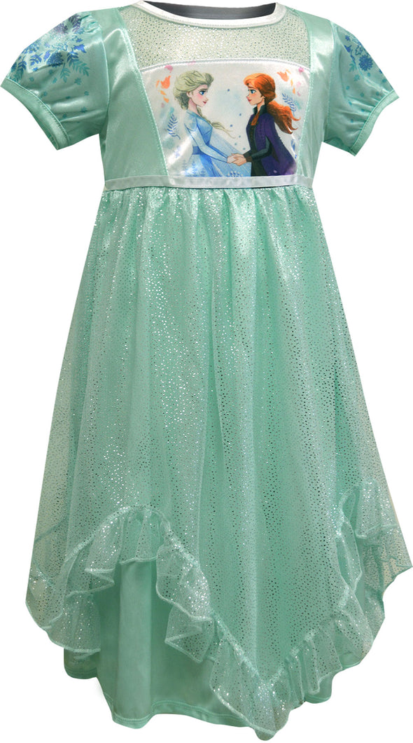 Frozen II Elsa and Anna Best Friends Magical Dress Up Nightgown
