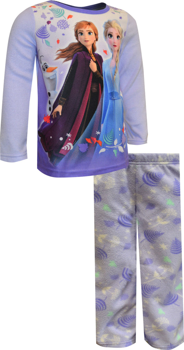 Disney Frozen Princesses Elsa and Anna Cozy Fleece Pajama