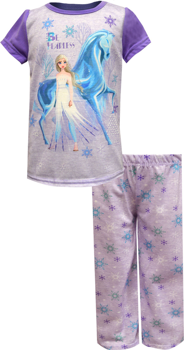 Disney Frozen Princesses Elsa and Anna Be Fearless Toddler Pajama