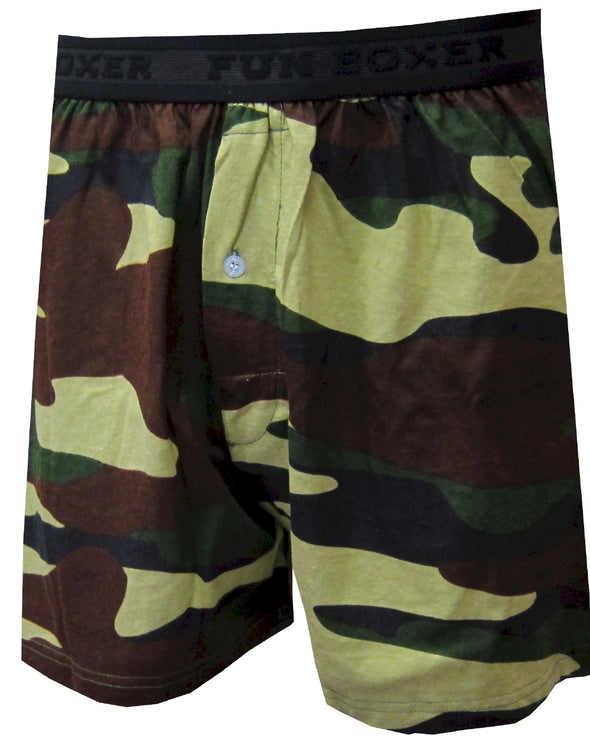 Olive Green Military Camo Boxers