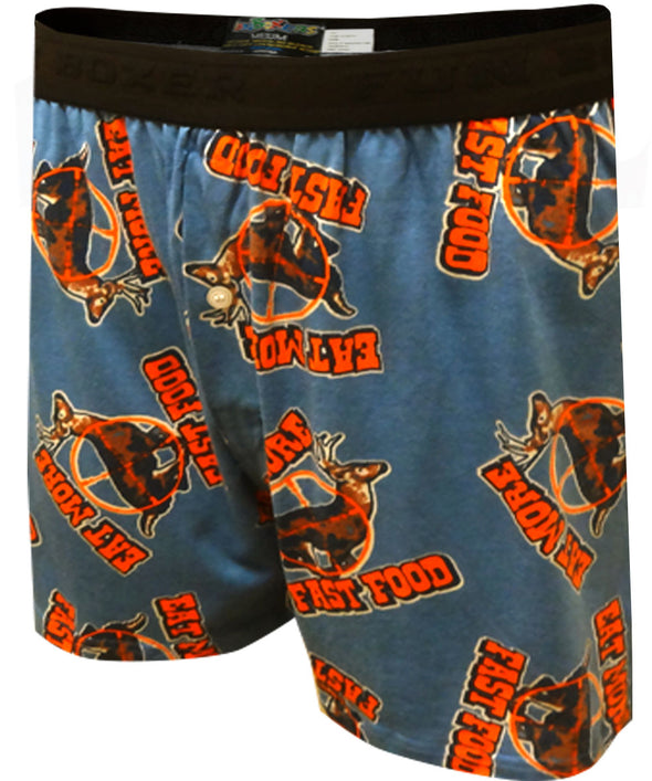 Eat More Fast Food Hunting Boxer Shorts