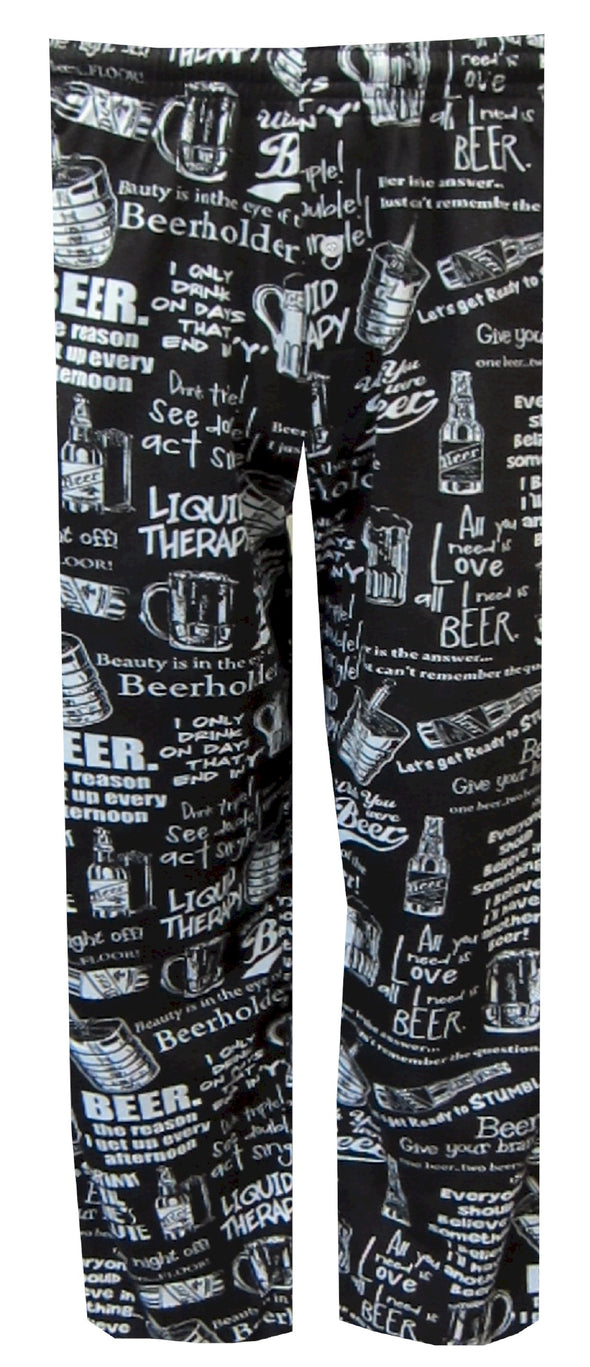 Beer Phrases Black Lounge Pants