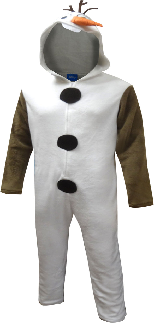 Disney Frozen Olaf Hooded One Piece Union Suit Pajama