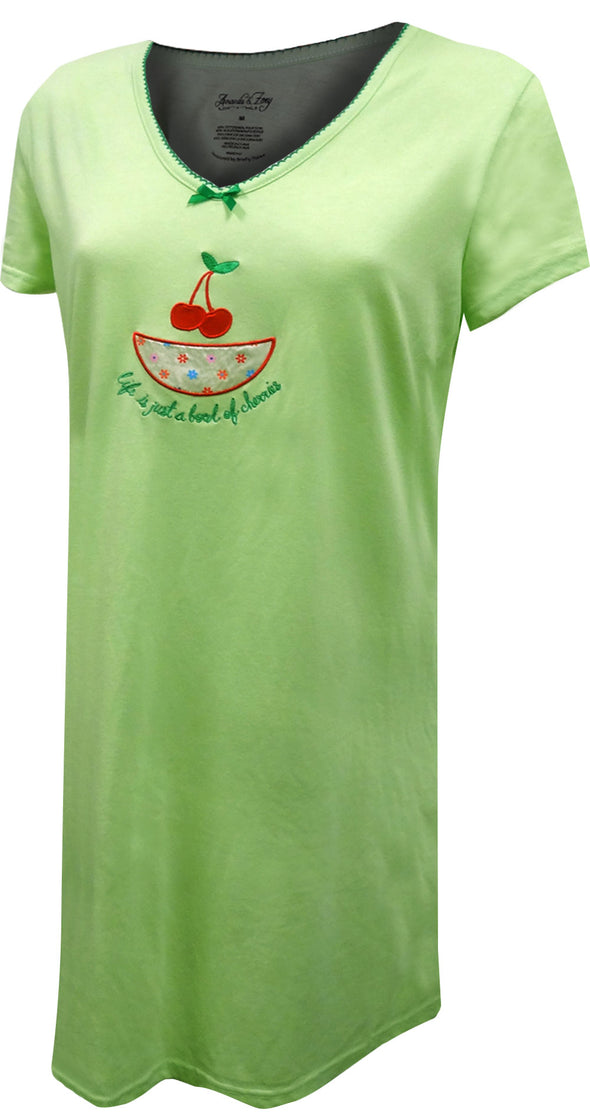 Life Is Just A Bowl of Cherries Night Shirt
